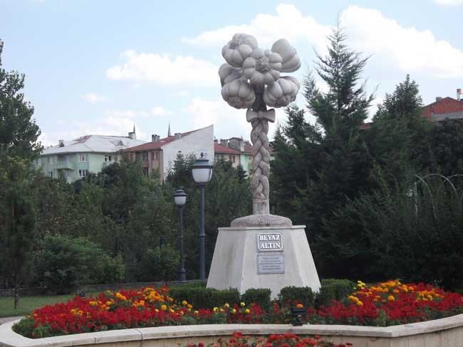 Скульптура чеснока в Турции