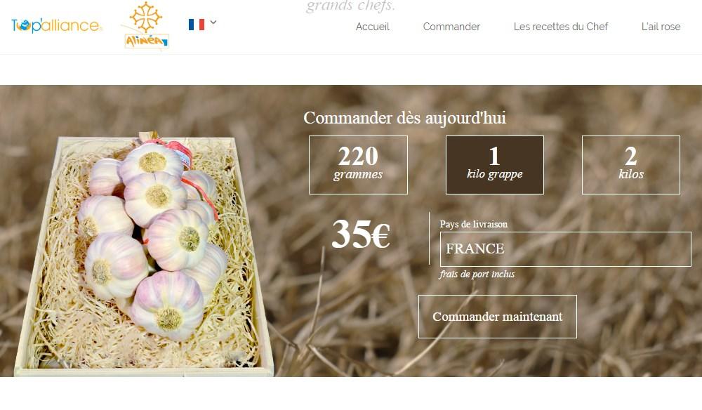 упаковка чеснока 1 кг французский розовый чеснок из Лотрека и цена на него