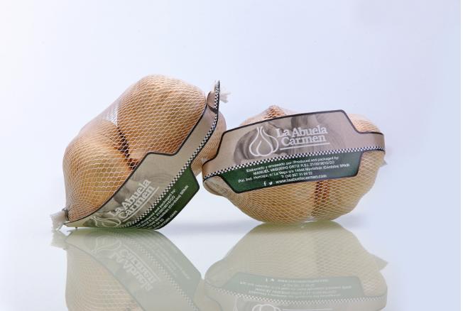 Копченый чеснок из Испании упакованный в сеточку